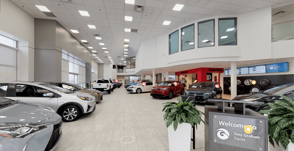 Dealership with cars for sale