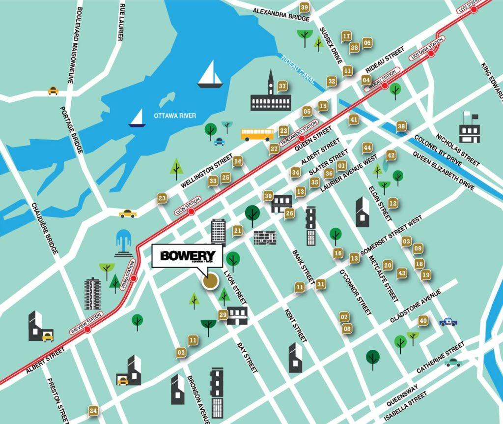 Ottawa Downtown Map